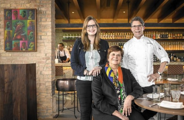 Lanie, from left, Deann and Rick Bayless at Lena Brava. (Brian Cassella / Chicago Tribune)
