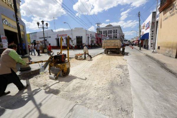 Major street and sidewalk repair projects in downtown Merida will begin Monday May 23. (PHOTO: sipse.com)