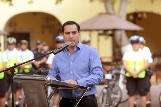 (PHOTO: yucatan.com.mx) Mayor Mauricio Vila Dosal speaking recently.
