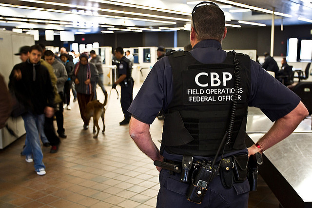 Be prepared for long lines and inspections at U.S. border crossings. (PHOTO: cbp.gov)