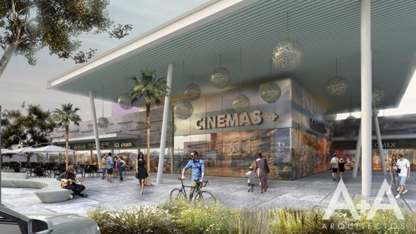 Rendering of proposed shopping mall in Las Americas area.