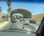 Two lane border crossing into Mexico. (PHOTO: Chuck Bollotin)
