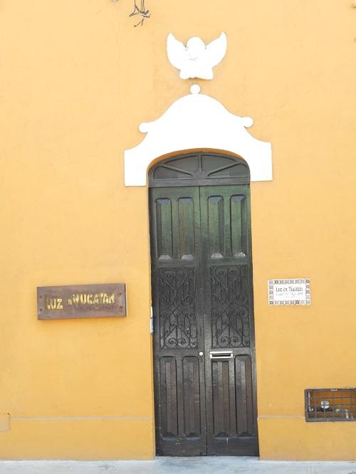Entrance to Hotel Luz en Yucatan on Calle 55 between Calles 60 and 58. (PHOTO: Robert Adams)