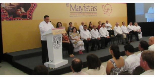 Opening ceremony of the Maya Experts Congress in Izamal (Photo: yucatan.com.mx)
