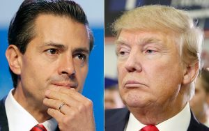Mexican Presidnet Enrique Peña Nieto (left), U.S. President Donald Trump.(PHOTO: telegraph.co.uk.)
