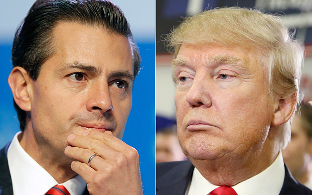 Mexican Presidnet Enrique Peña Nieto (left), Republican Presidential candidate Donald Trump.(PHOTO: telegraph.co.uk.)