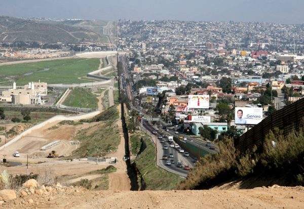 A section of the existing border wall demarcates San Diego and Tijuana. (PHOTO: buildingtheborderwall.com)