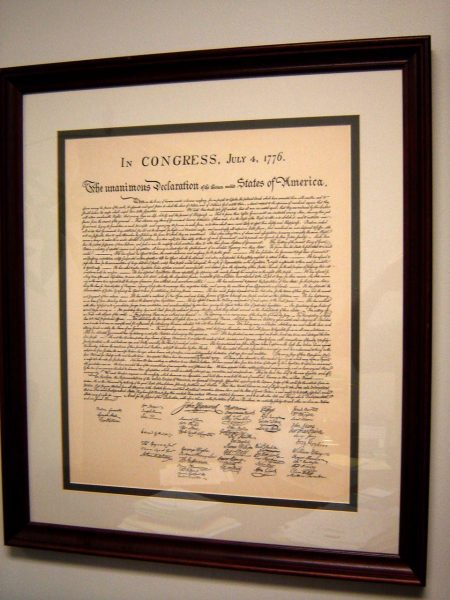 U.S. Declaration of Independence. (PHOTO: courtesy Chuck Bolotin)