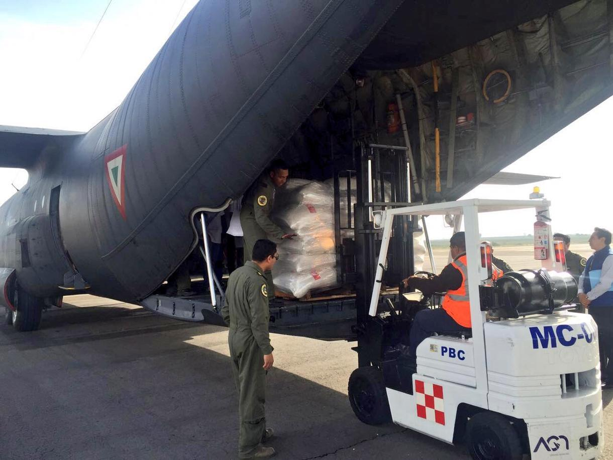 Airlift's first shipment departed Puebla for Oaxaca Thursday June 30. (PHOTO: news.vice.com)