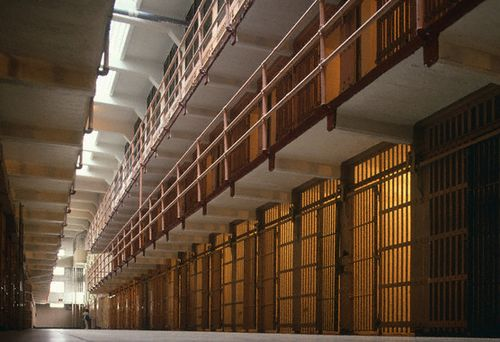 Cell block at Metropolitan Detencion Center in Brooklyn. (PHOTO: romanvega.com)