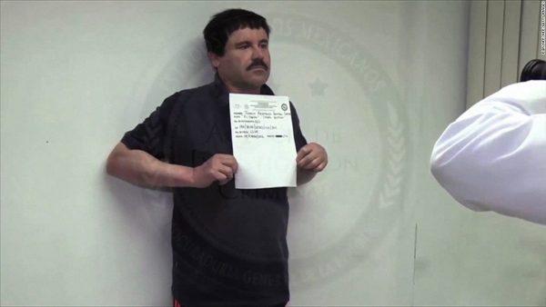 Joaquin El Chapo Guzman being processed into Mexican prison. (PHOTO: cnn.com)