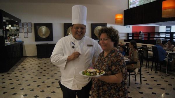 Executive Chef Jorge Ku, with my wife Cristy