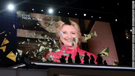 Hillary Clinton accepts Democratic presidential nomination. (PHOTO: cnn.com)