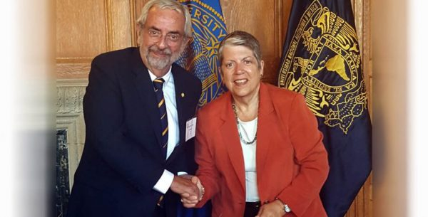 UNAM Rector Graue and UC President Napolitano. (PHOTO: mexico.quadratin.com.mx)