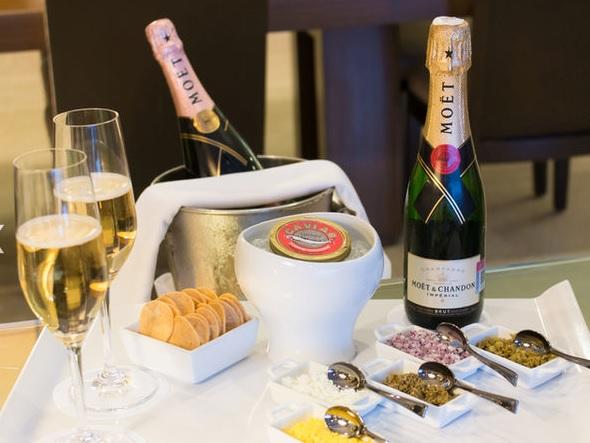 A champagne bar at Grand Velas Resorts. (Courtesy Grand Velas Resorts)