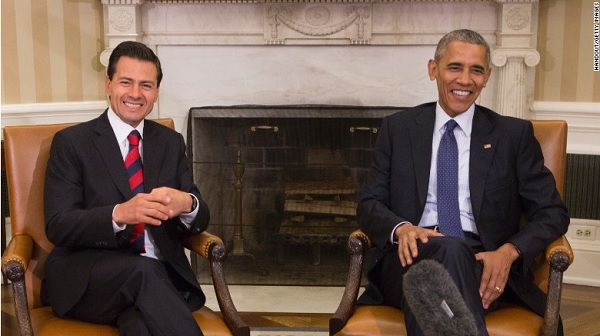 President Barack Obama meets with Mexican President Enrique Pena Nieto of Mexico at the White House on July 22, 2016 in Washington, D.C. (Photo: CNN)