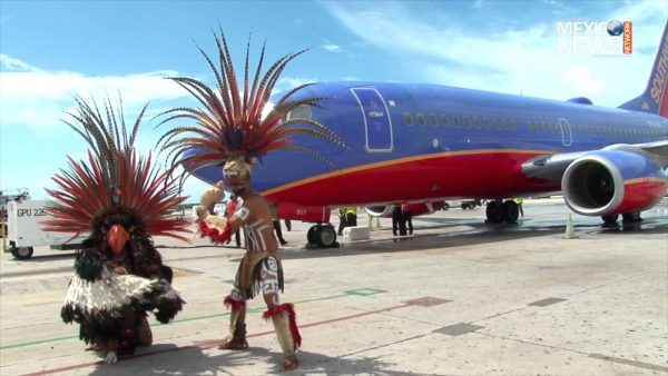 Southwest Airlines arrives in Cancun. (PHOTO: youtube.com)