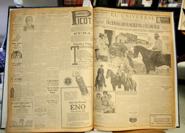 A front page of El Universal featuring an interview with Pancho Villa. (PHOTO: efe.com)