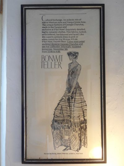 Sketch of a dress designed by Georgia Charuhas. (PHOTO: Robert Adams)