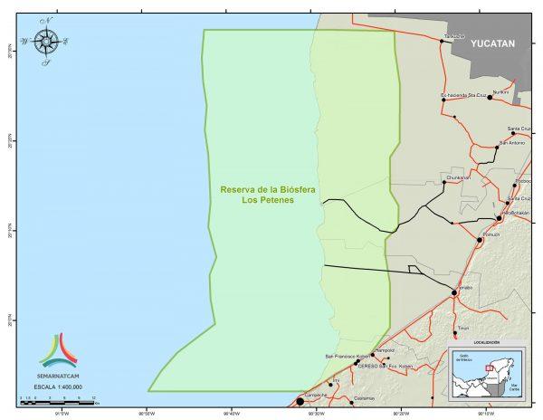Los Petenes reserve map