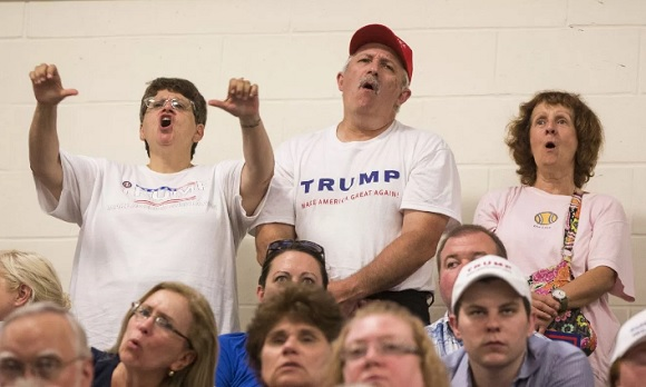 Trump supporters in North Carolina think that Hillary Clinton is literally the devil (Photo: