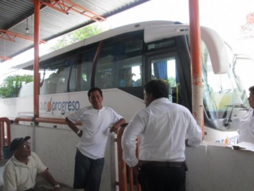 Autprogreso bus terminal, Sunday August 28 (Photo: puntomedio.com.mx)