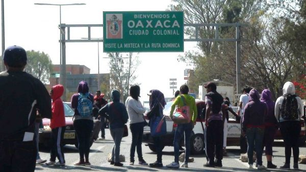 Teacher blockades in Oaxaca. (PHOTO: lopezdoriga.com)