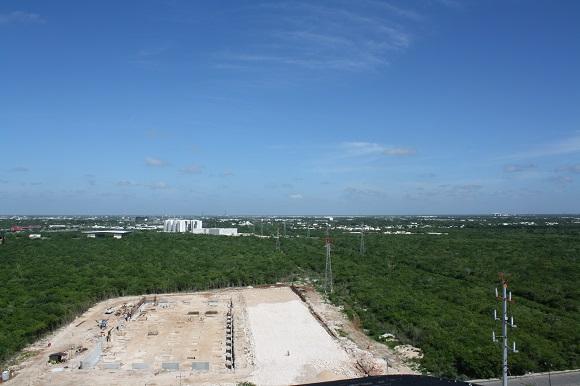 Construction site for Faro del Mayab