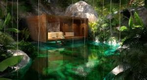 Hacienda Chable under construction south of Merida will feature a spa in a cenote. (File photo)