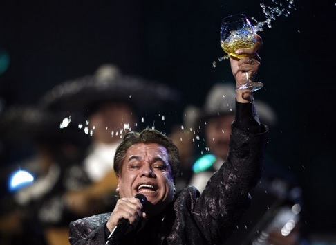 In this Nov. 5, 2009, file photo, Juan Gabriel performs at the 10th Annual Latin Grammy Awards in Las Vegas. (Photo: AP)