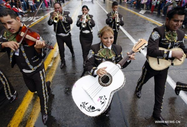 A mariachi group performs in Guadalajara festival. (PHOTO: new.xinhuanet.com)