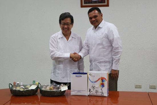 Korean Ambassador Chun Beeho with Gov. Rolando Zapata Bello. (State photo)