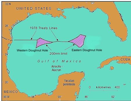 Mexico Cuba US Talk Again On Oilrich Doughnut Hole In Gulf - Us waters map