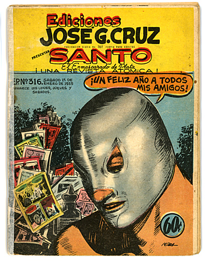 "In 1952, José G. Cruz started ""El Santo"" comic series."