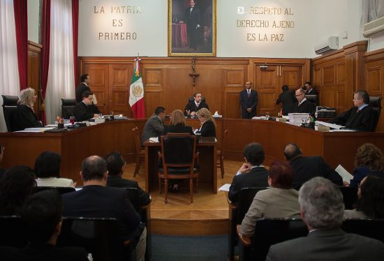 Ministers of the Mexican Supreme Court of Justice in session. PHOTO: (Xinhua)
