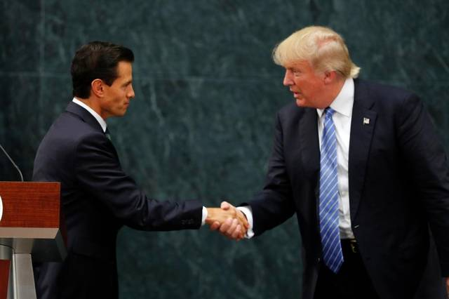 Mexican President Enrique Peña Nieto and U.S. presidential candidate Donald Trump. (PHOTO: elnuevoherald.com)