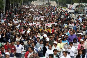 Teachers afiliated with CNTE have taken to the streets to protest aspects of the government's education reform. (PHOTO: JSTOR Daily)