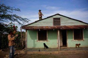 Residents of a village near Guantánamo, Cuba prepared their house for Hurricane Matthew. (PHOTO: ap.org)