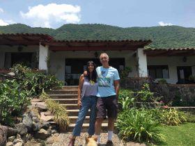 Jet_Metier and Chuck Bolotin in Jocotepec garden and house (PHOTO: courtesy Chuck Bolotin)