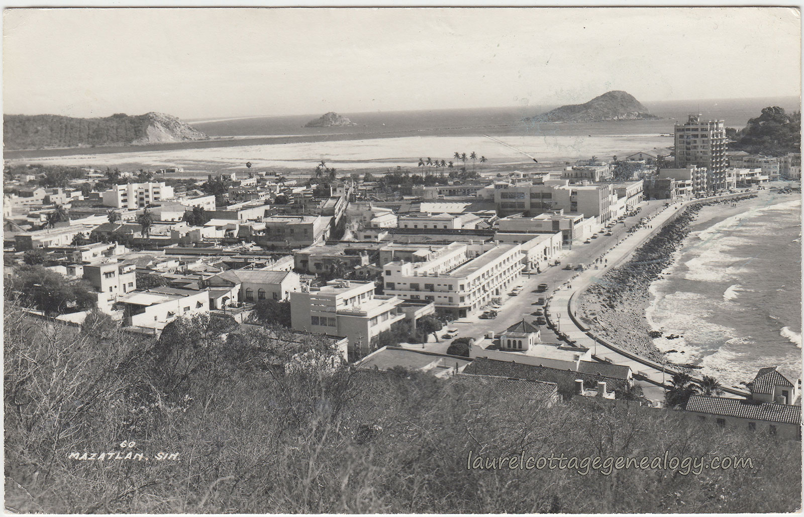 Mazatlan in 1958 (Photo: laurelcottagegenealogy.com)