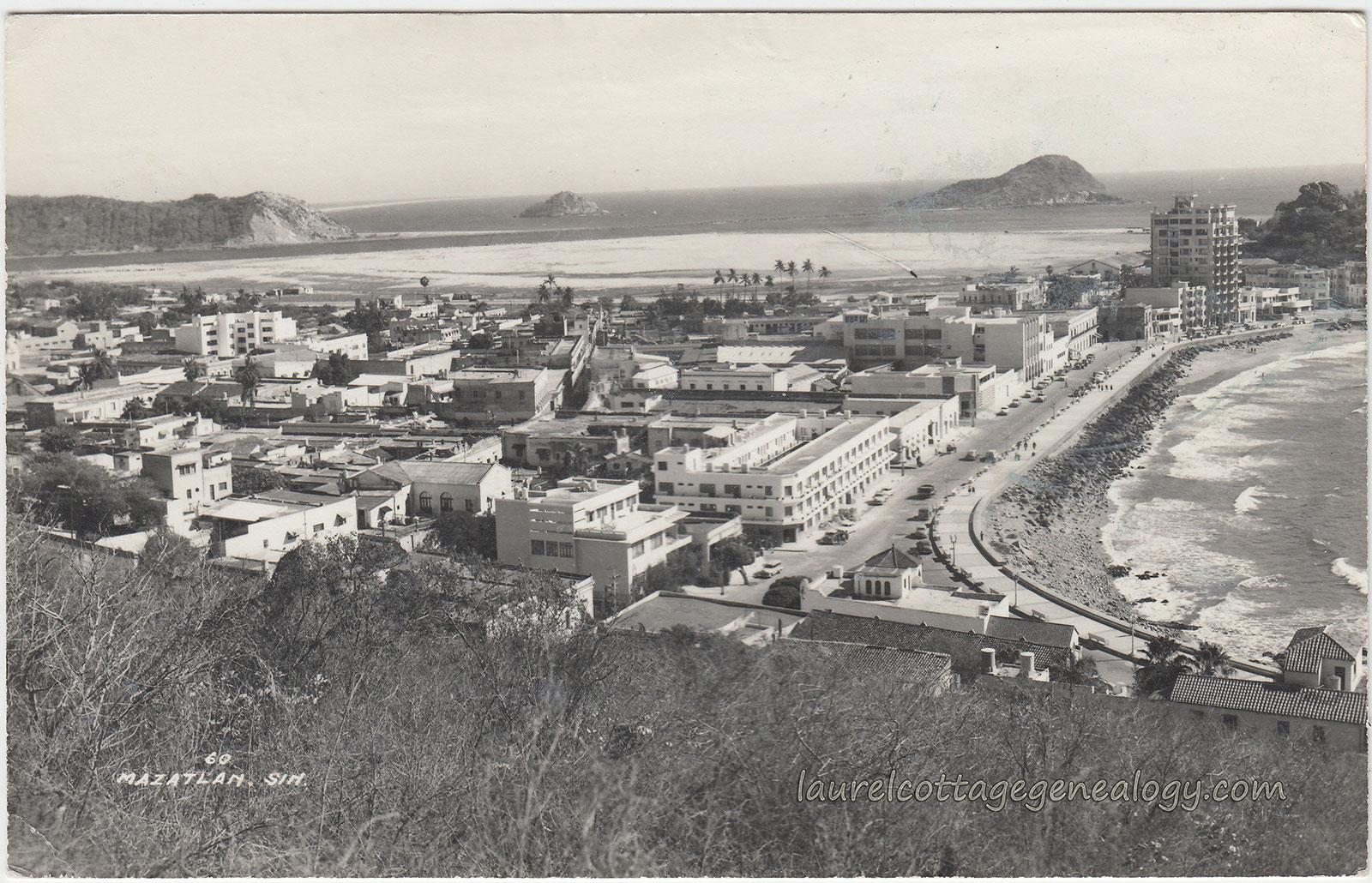 Mazatlan in 1958 (Photo: laurelcottagegenealogy.com)