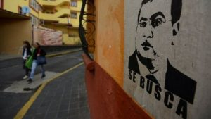 """Wanted"" posters for fugitive ex-Gov. Javier Duarte have appeared on walls. (PHOTO: reuters.com)"