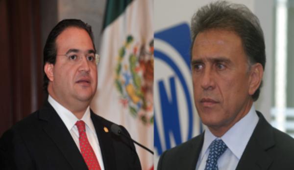 Veracruz Gov.-Elect Miguel Ángel Yunes (right) accused former Gov. Javier Duarte of fleeing. (PHOTO: mvsnoticias.com)