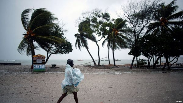 Hurricane Matthew made landfall in Haiti Tuesday Oc.t 4. (PHOTO: voanews.com)