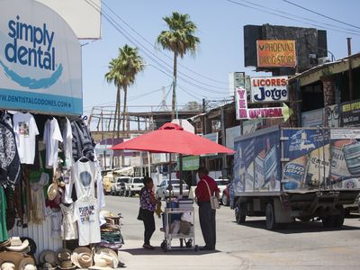 Palm Springs resident Victor Yepello makes a day trip to the Mexican border town of Los Algondones for a follow up on his root canal with his dentist. (PHOTO: The Desert Sun)