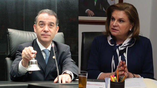 Raul Cervantes (left) is replacing Arely Gomez as Mexico's attorney (general. (PHOTO: mimorelia.com)