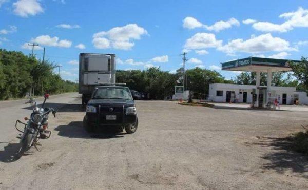Rio Lagartos gas station was robbed of more than 1 million pesos ($70,000 USD). (PHOTO: sipse.com)