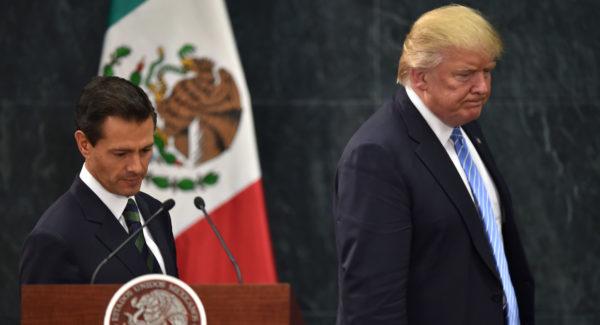 Then-candidate Donald Trump met with Mexican President Enrique Peña Nieto in August. (PHOTO: politico.com)