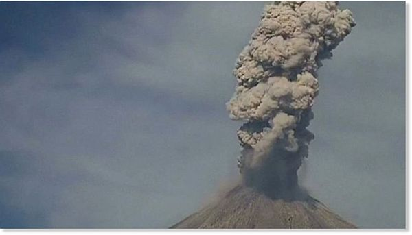 The 12,533-foot 'Fire Volcano' is located 430 miles northwest of Mexico City, on the border of Jalisco and Colima states. It is one of the most active and potentially destructive volcanoes in all of Mexico.(Photo: Banderas News)