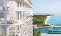 Rendering of SLS Cancun condo project. (IMAGE: Related Group)